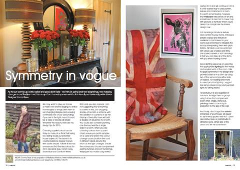 Mistletoe Interiors publication Symmetry in Vogue